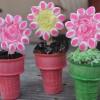 Spring Flower Cupcake Cones