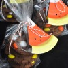 Chocolate Cake Cookies with Candy Corn M&Ms Treat Bags