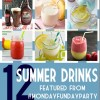 12 Summer Drink Recipe Ideas + MONDAY FUNDAY Link Party