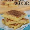 Easy Snickerdoodle Cookie Bars