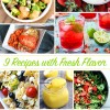 9 Fresh Recipe Ideas
