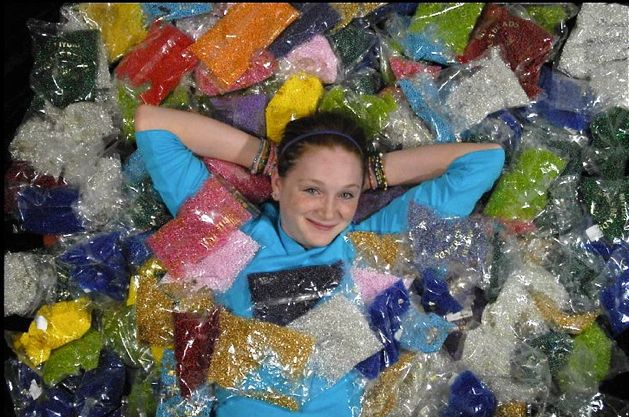 beading to beat autism2 Make your own beaded curtain using a combination of crystal, glass, wood, ...