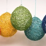 rainbow yarn balloons