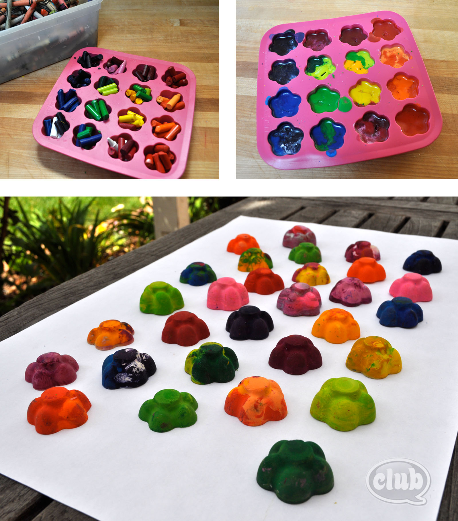 Melt crayons into colorful creations and make fall leaf ...