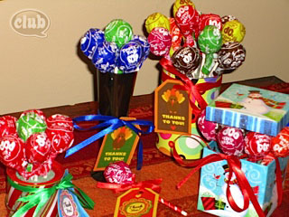 Personalized gifts: Tootsie pop bouquet