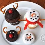 reindeer snowman cupcakes.2