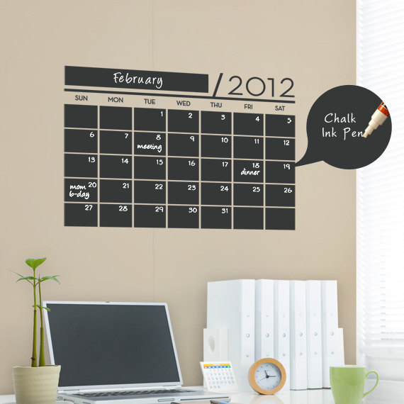 Office Calendar Board : Top chalkboard paint craft ideas