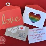 love glitter cards
