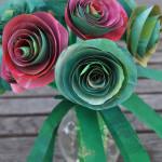paper roses closeup