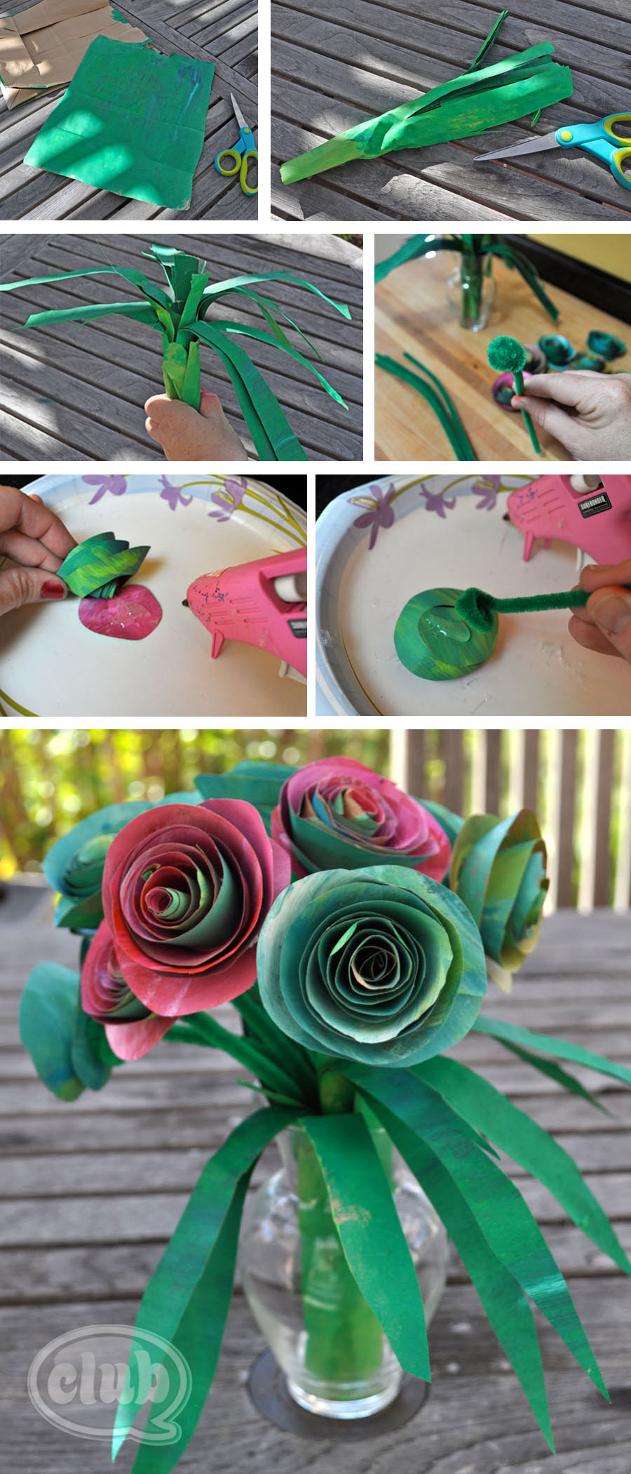 Upcycle An Ordinary Paper Bag Into A Beautiful Paper Rose Bouquet Craft