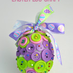 Button Easy Easter Egg Craft idea for kids