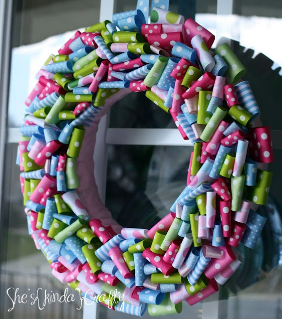 spring front door wreathsTop 5 Crafty Spring Wreaths  Club Chica Circle  where crafty is