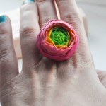 clay flower ring