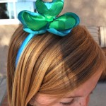 clover headband.green