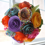 Paper flower topiary crop