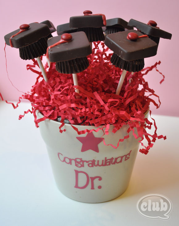 Make Your Own Chocolate Graduation Cap Bouquet Club