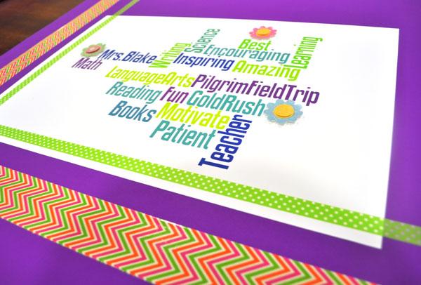 Teacher Appreciation Wordle Poster : Club Chica Circle - where crafty ...