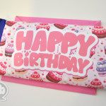 Happy Birthday printable chocolate bar wrap
