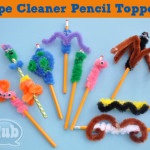 Pipe cleaner pencil toppers @clubchicacircle