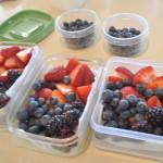 fresh berries prepped
