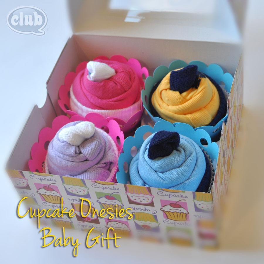 cupcake onesies gift idea  club chica circle  where crafty is, Baby shower invitation