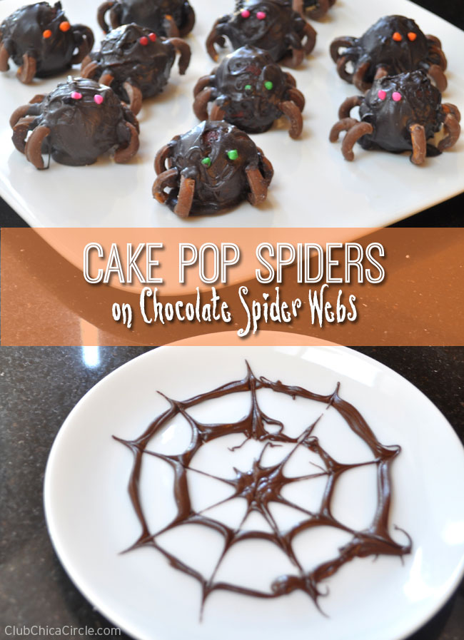 How to make cake pop spiders on chocolate spider webs