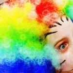 afro circus closeup