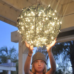 flower basket chandelier feature