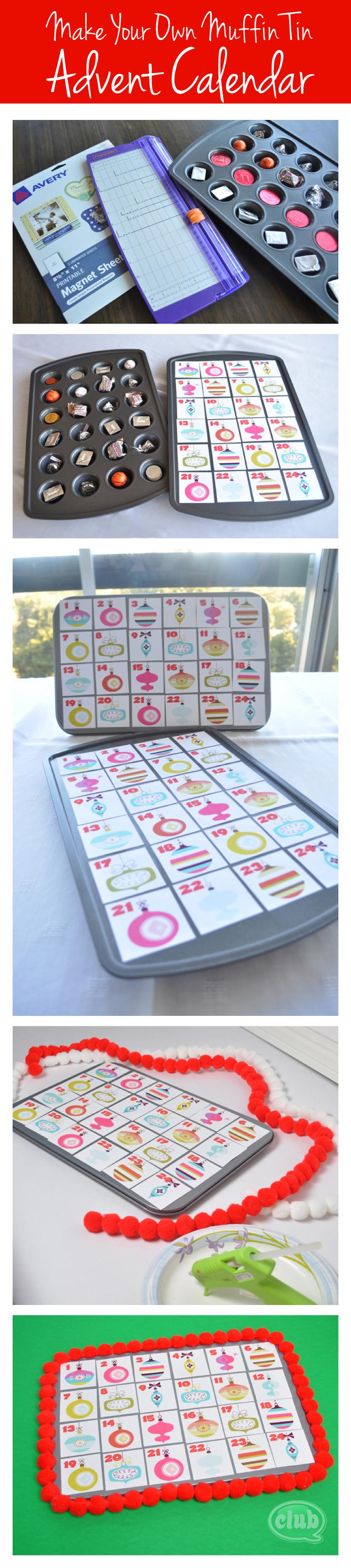 Diy Advent Calendar Muffin Tin : Make your own advent calendar and free printable