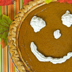happy face pumpkin pie
