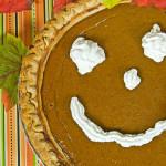 happy face pumpkin pie
