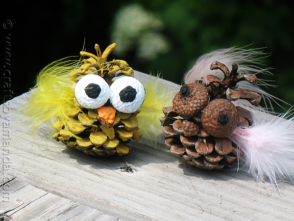 pinecone-owl-craft-idea for kids