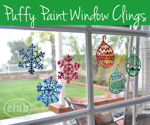 puffy paint window decorations | club chica circle - where crafty