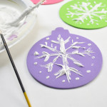 Snow Paint ornaments