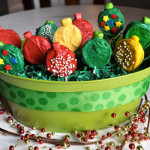 holiday cookie pop basket