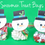 homemade snowman treat bags