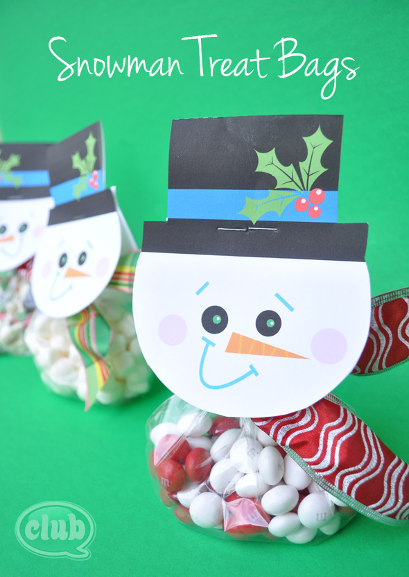 snowman treat bags @clubchicacircle