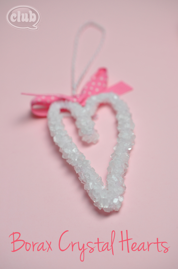 Borax crystal heart decoration