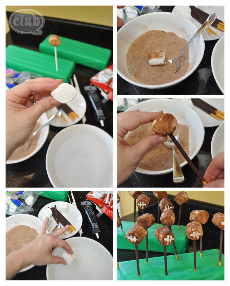 Cinnamon Sugar Football party treats recipe DIY