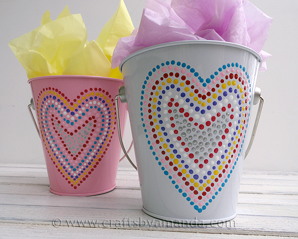 Dotted-Heart-Valentine-Buckets