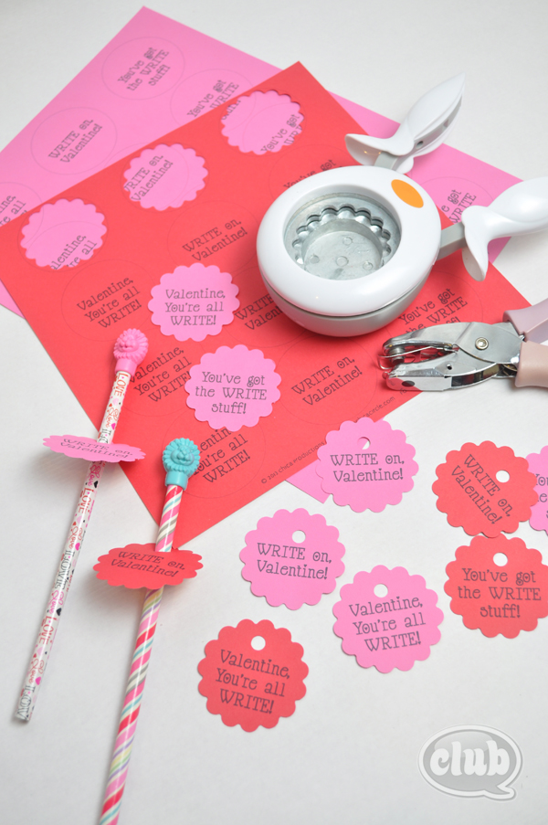 Easy homemade valentines card pencil idea
