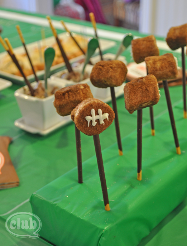 Football party cinnamon treats