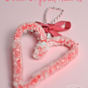 Red Borax Crystal heart craft