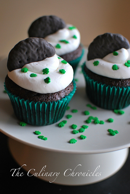 Thin Mint Chocolate Cupcakes