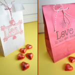 Valentines printable paper bag DIY