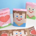 BE MINEcraft Valentines free printable
