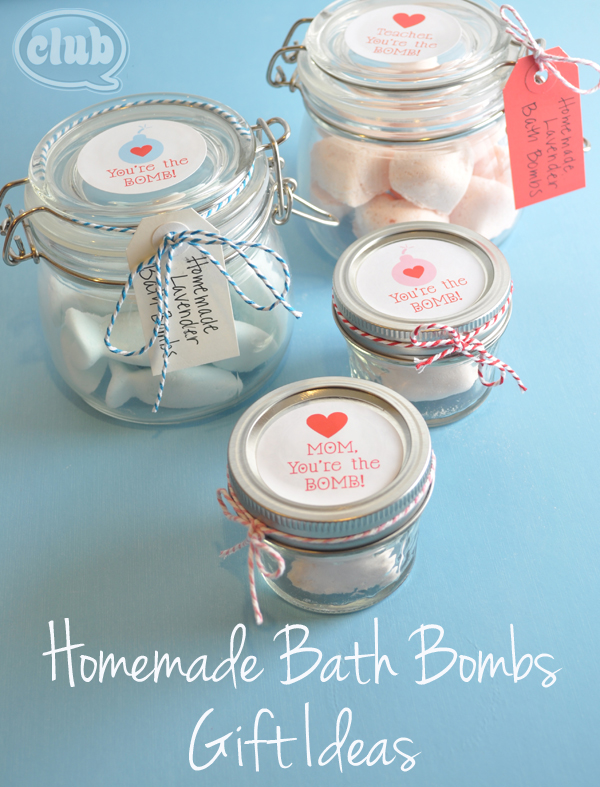 Homemade Bath Bomb gift ideas
