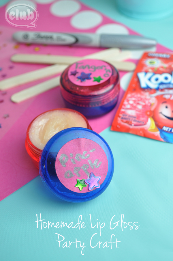 Homemade Lip Gloss party craft idea