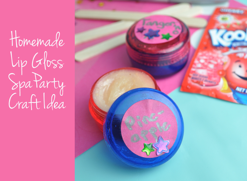 Homemade Lip Gloss party craft recipe