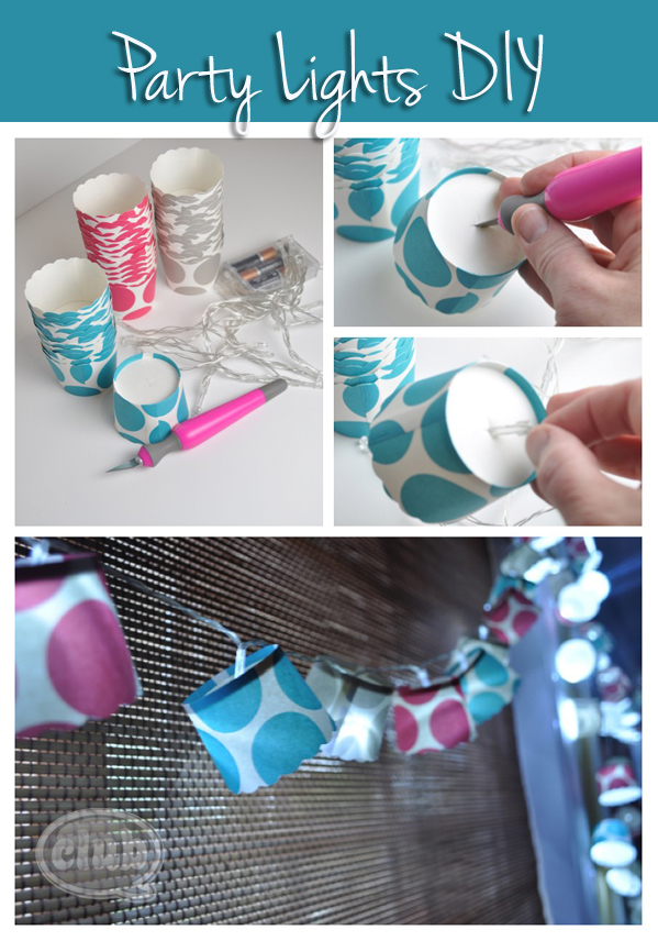 Homemade Party Light Decor DIY @clubchicacircle